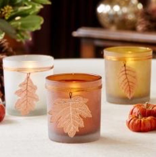 frosted tea light set