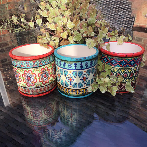 beautiful bohemian planters