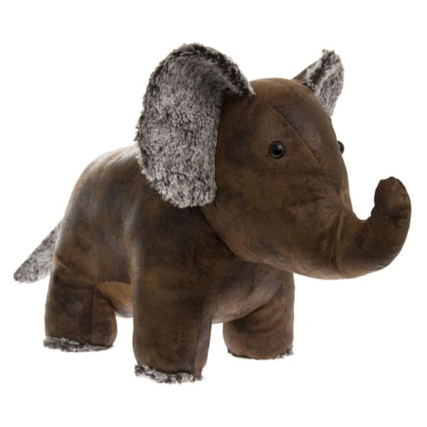 elephant doorstop faux leather