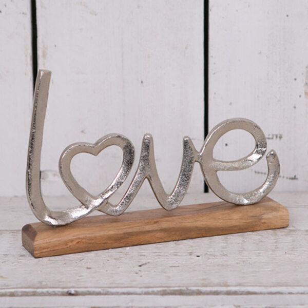 wooden heart ornament