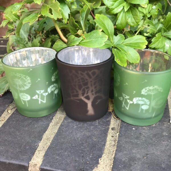 nature tea light holders