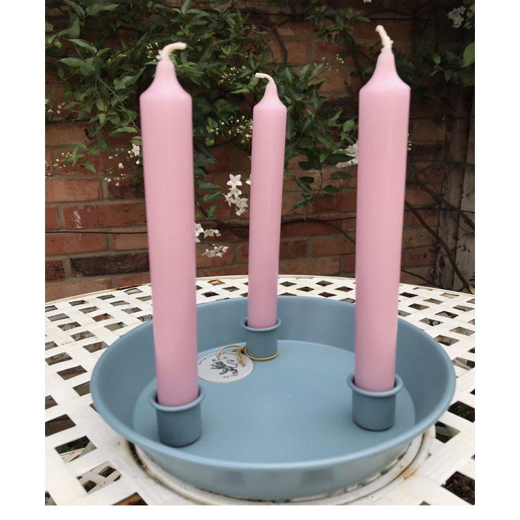 aquamarine candle holder
