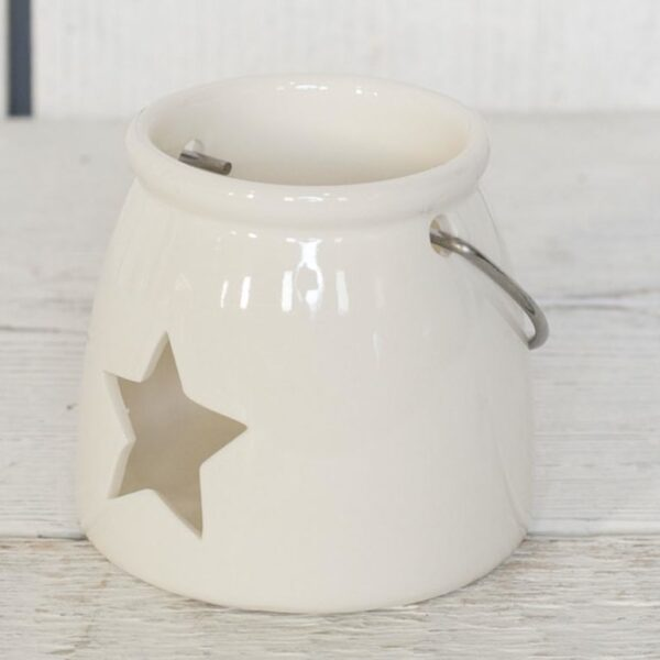 star cut out candle holder
