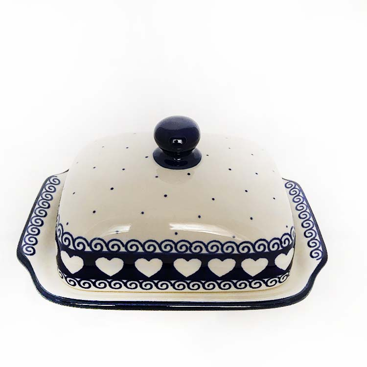 light hearted butter dish polish pottery buy online