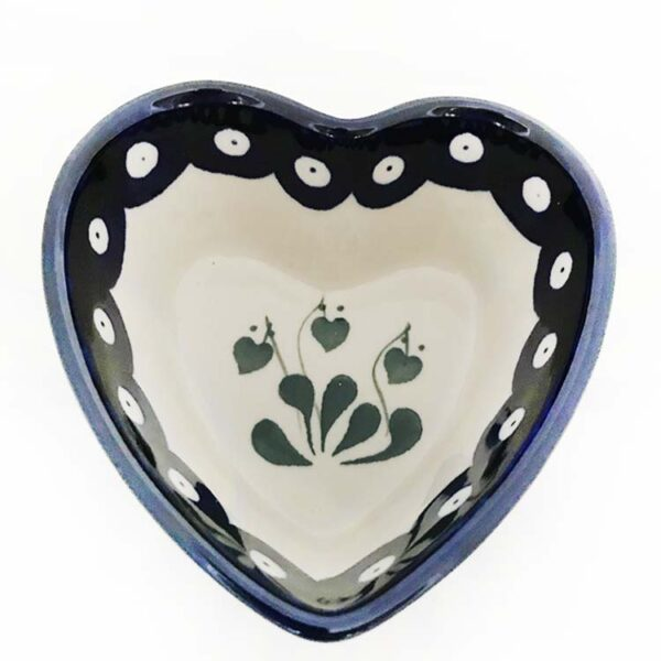 heart shaped ramekin/dish polish pottery buy online