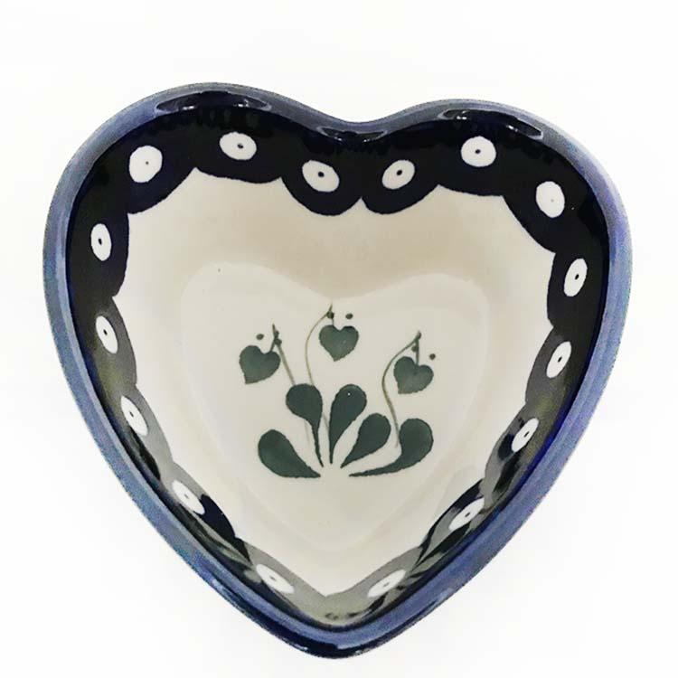 heart shaped ramekin/dish polish pottery buy online