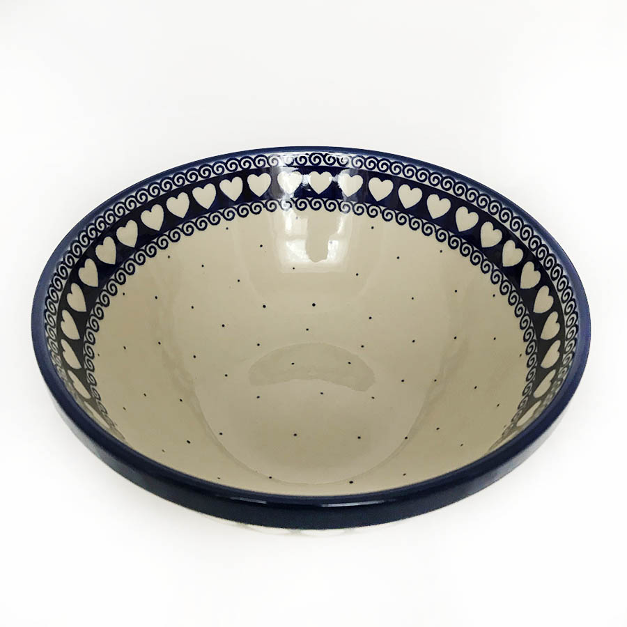 beautiful polish pottery serving dish