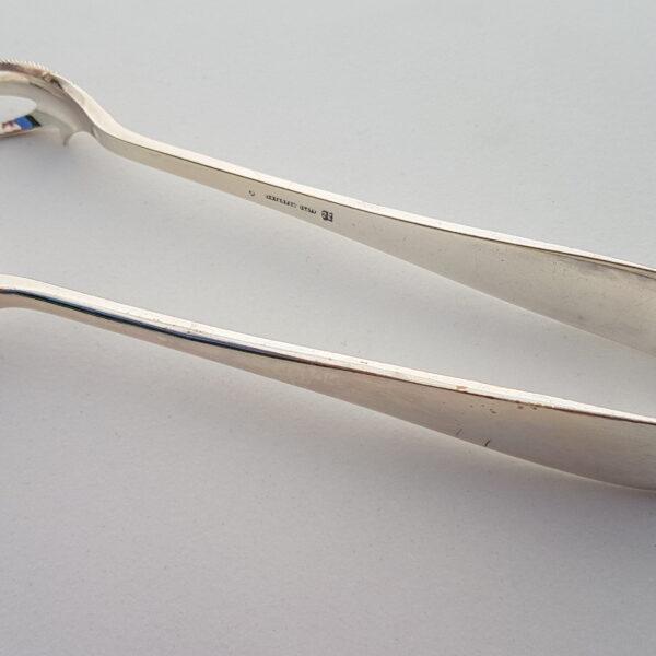 Silver sugar tongs