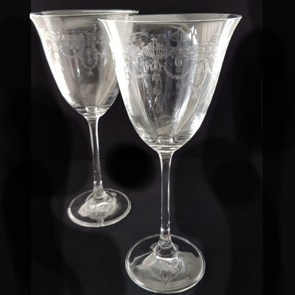 Pair of etched wine glasses available to buy online
