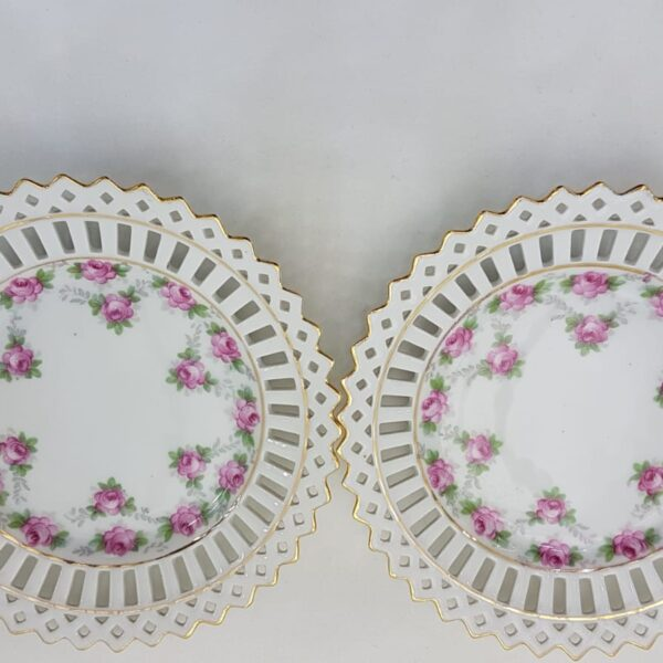 A pair of pretty pink ribbon-style plates available to buy online