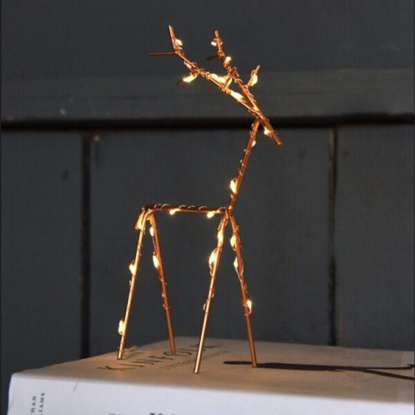Copper LED Deer available online