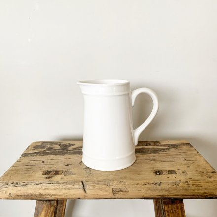 Simple White Ceramic Jug available from www.qwinkydink.co.uk
