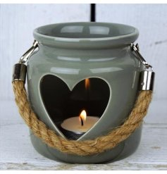 Grey Heart Lantern available to buy online at www.qwinkydink.co.uk