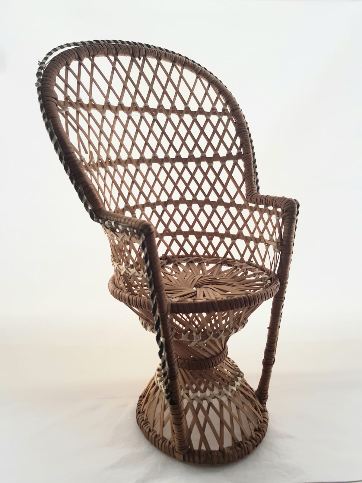 Vintage rattan miniature Peacock Chair, available to buy online at www.qwinkydink.co.uk