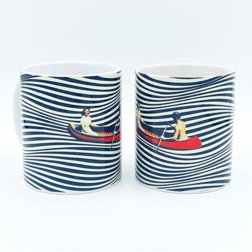 Boating Couple Ceramic Mug, buy it online at www.qwinkydink.co.uk
