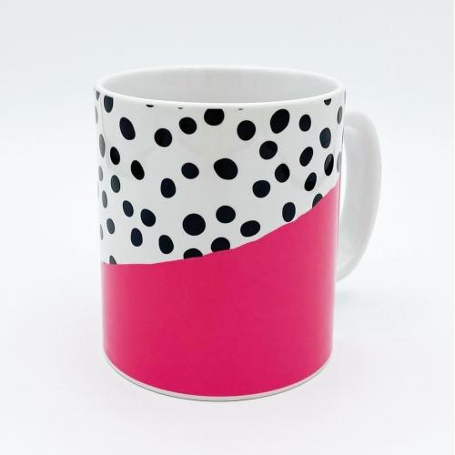 Abstract Polka Dot Mug for sale at www.qwinkydink.co.ik