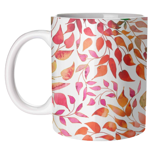 Autumn Leaves Ceramic Mug available to buy online at www.qwinkydink.co.uk