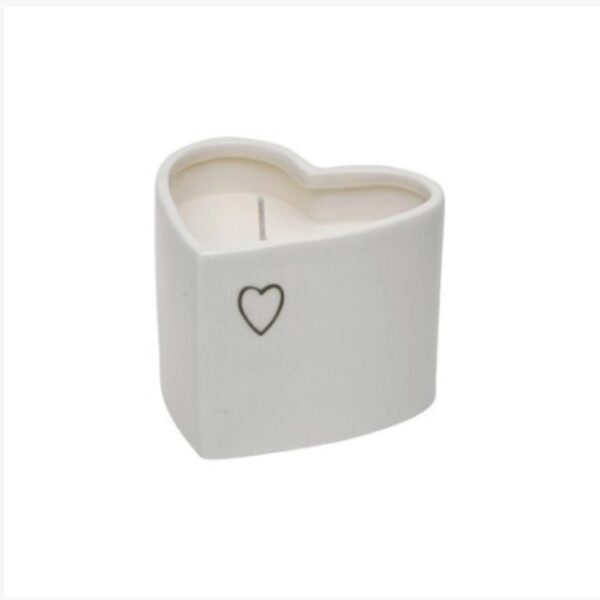 Ceramic heart candle pot, buy now at www.qwinkydink.co.uk